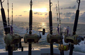 Beautiful sunrises are the norm on a charter trip out of Hatteras Inlet.