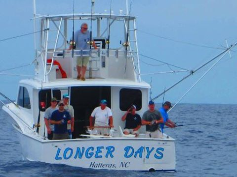 Longer Days Sportfishing Boat Offshore